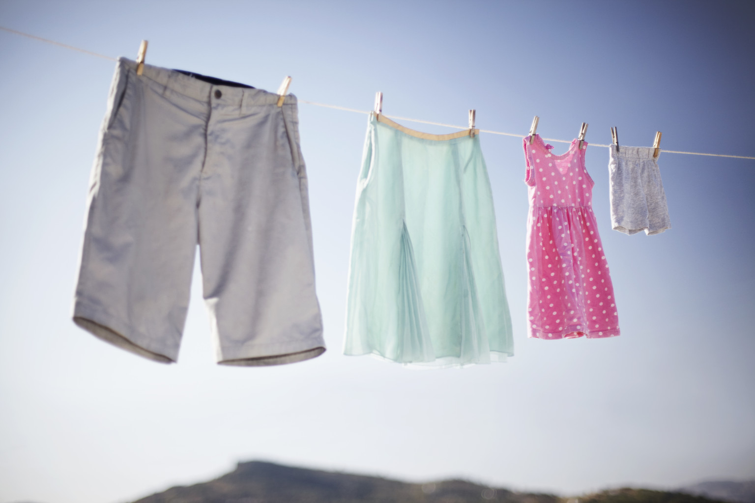 Nothing beats sun dried clothing for fresh smell!